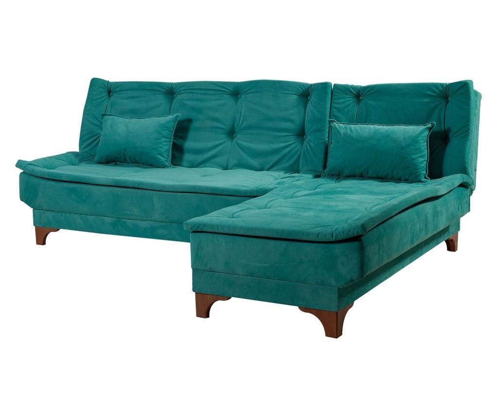 Coltar extensibil dreapta Green - Unique Design, Verde poza