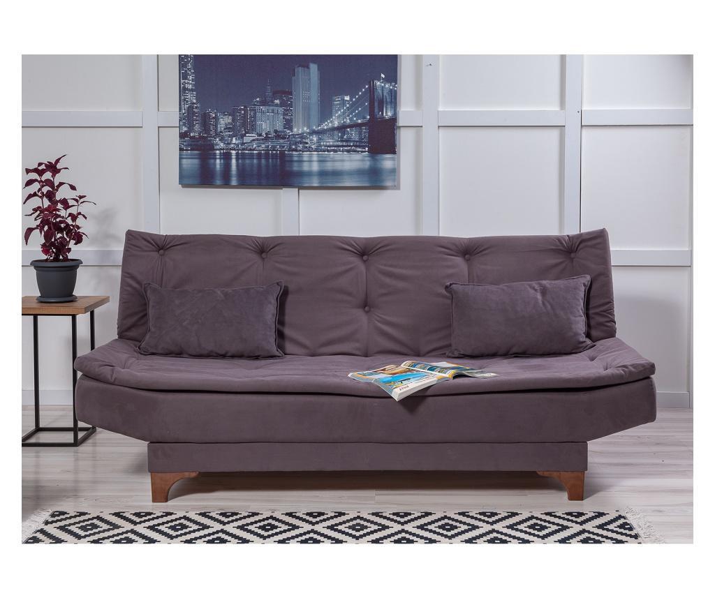 Canapea extensibila cu 3 locuri Anthracite - Unique Design, Gri & Argintiu imagine