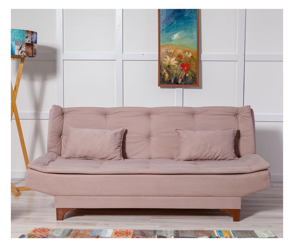 Canapea extensibila cu 3 locuri Rock - Unique Design, Gri & Argintiu vivre.ro