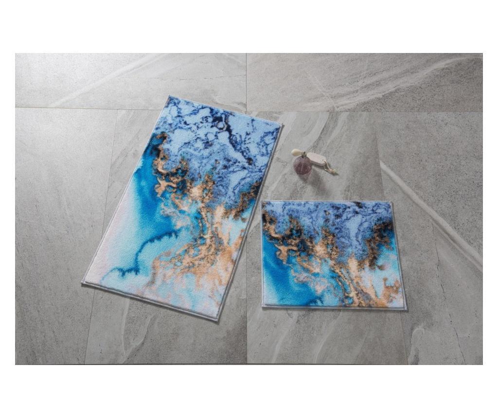 Set 2 covorase de baie - Confetti, Multicolor imagine