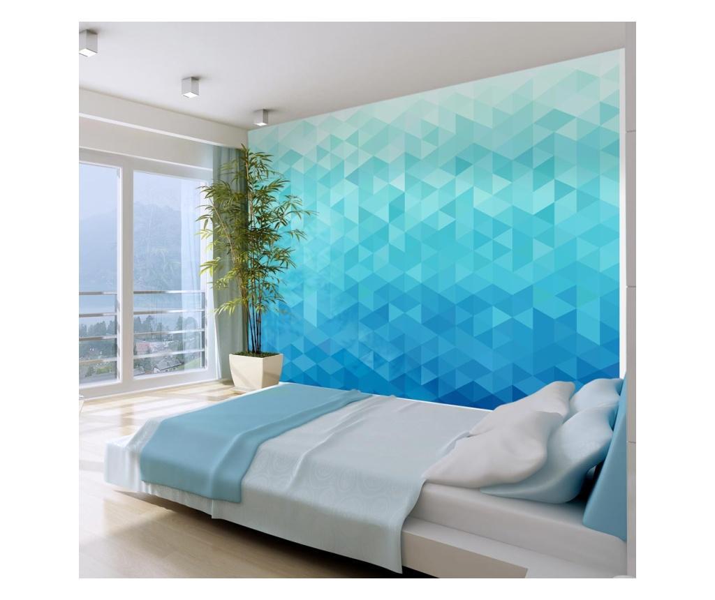 Tapet Azure pixel 175x250 cm - Artgeist, Multicolor imagine