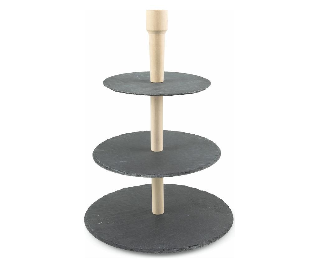 Platou cu 3 niveluri Slate imagine