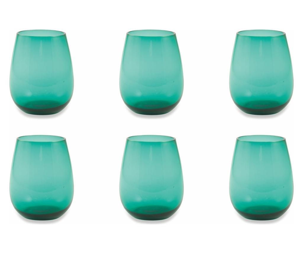 Set 6 pahare Happyhour Aquamarine 428 ml imagine