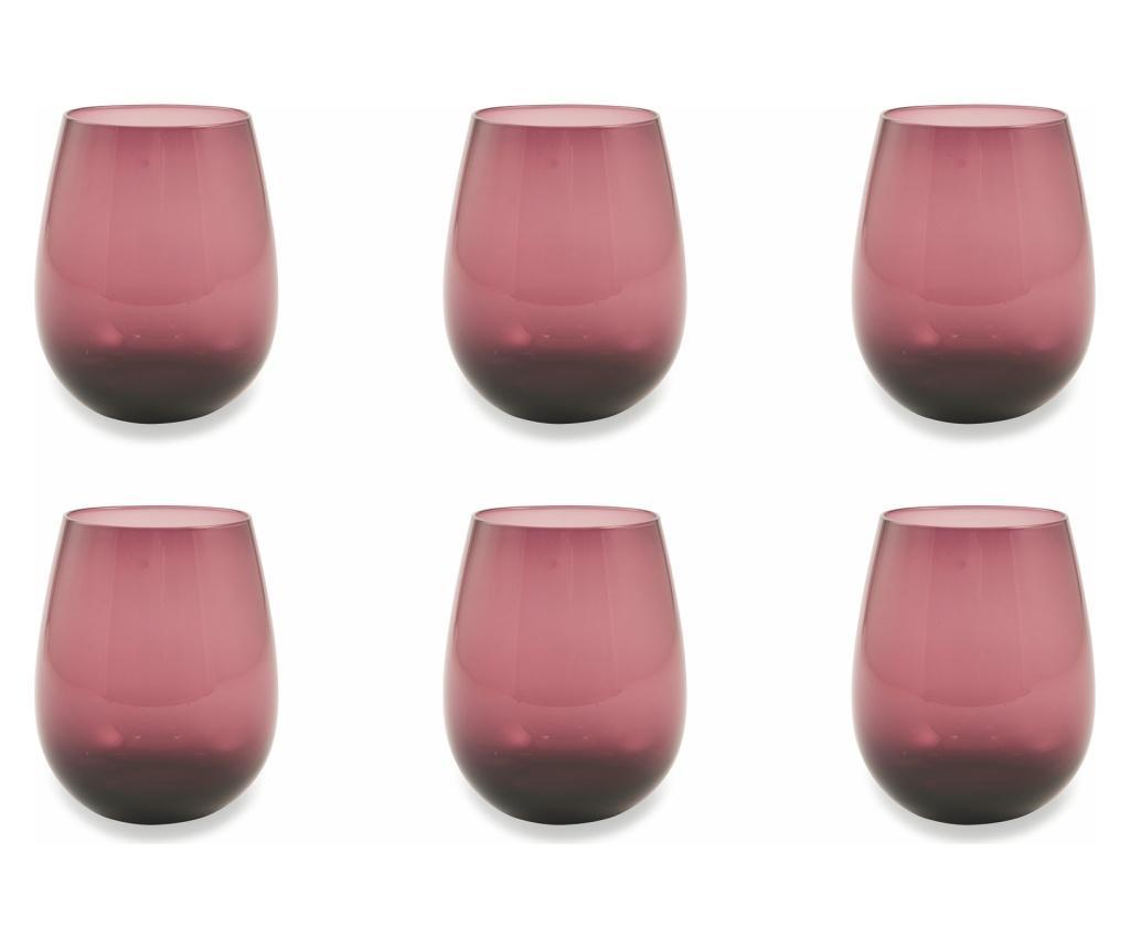 Set 6 pahare Happyhour Purple 428 ml imagine