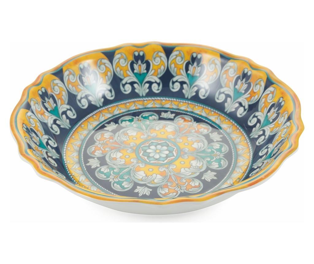 Bol pentru salata Sicilia Scalloped Blue - Villa D'Este Home Tivoli, Albastru imagine