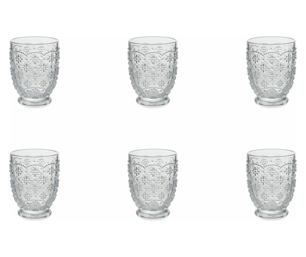Set 6 pahare pentru apa Sicilia 230 ml imagine