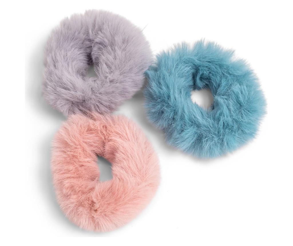 3 elastice de par Faux Fux - Zoe Ayla, Multicolor
