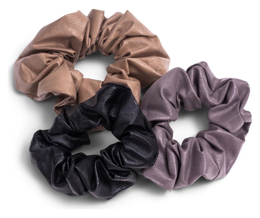 3 elastice de par Leather Look - Zoe Ayla, Multicolor