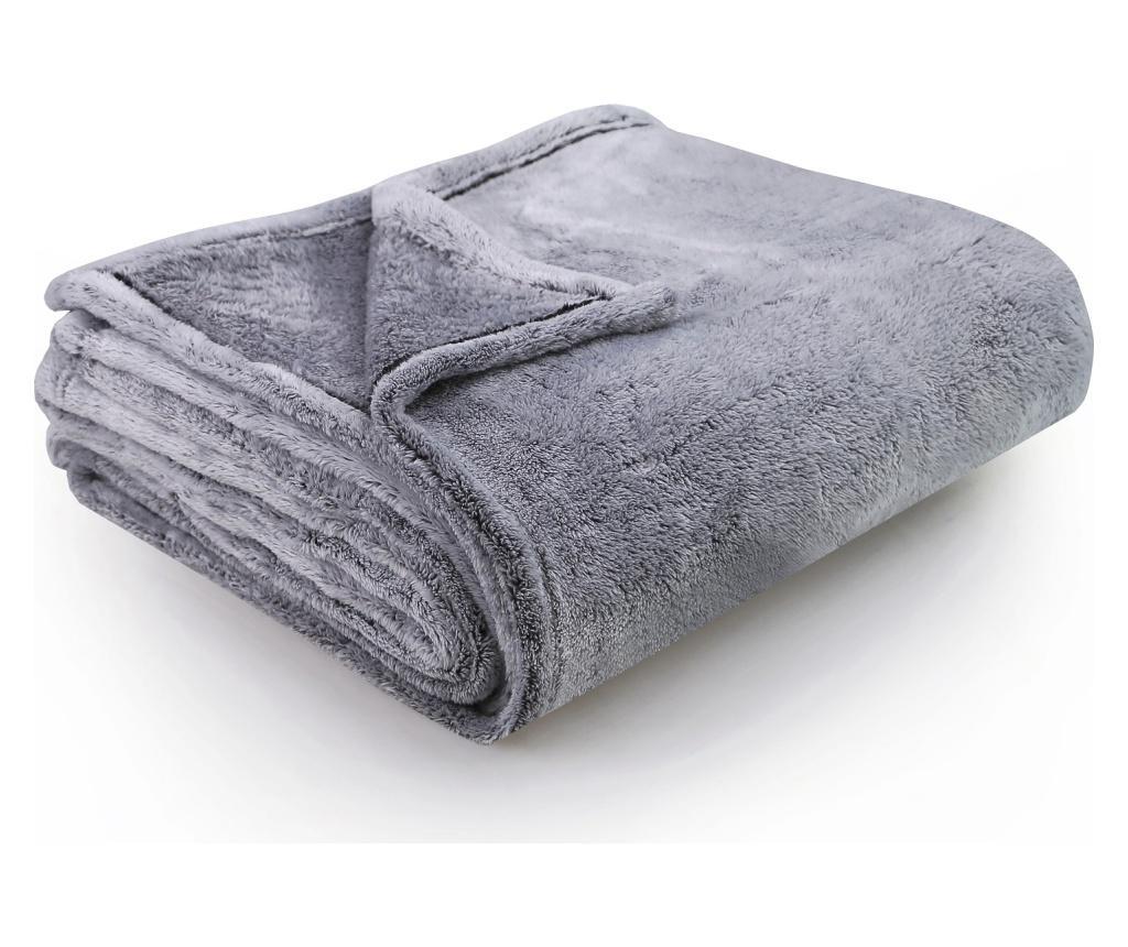 Patura Fluff Charcoal 170x210 cm imagine