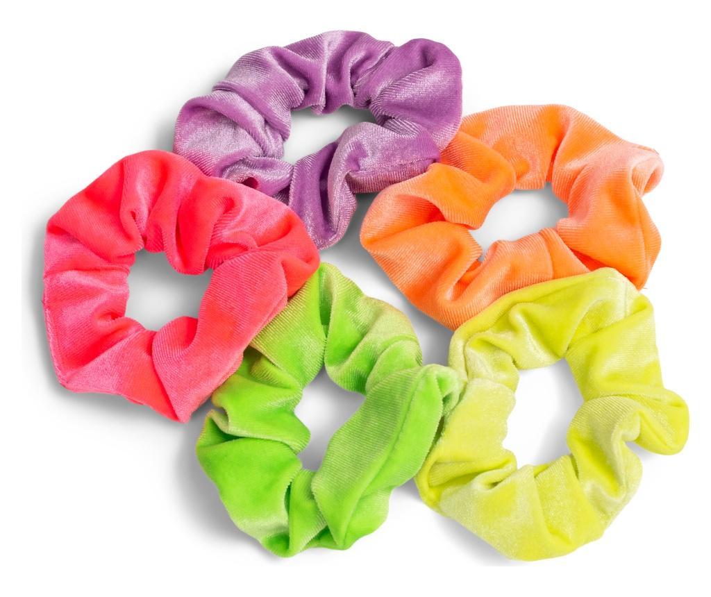 5 elastice de par Velvet - Zoe Ayla, Multicolor