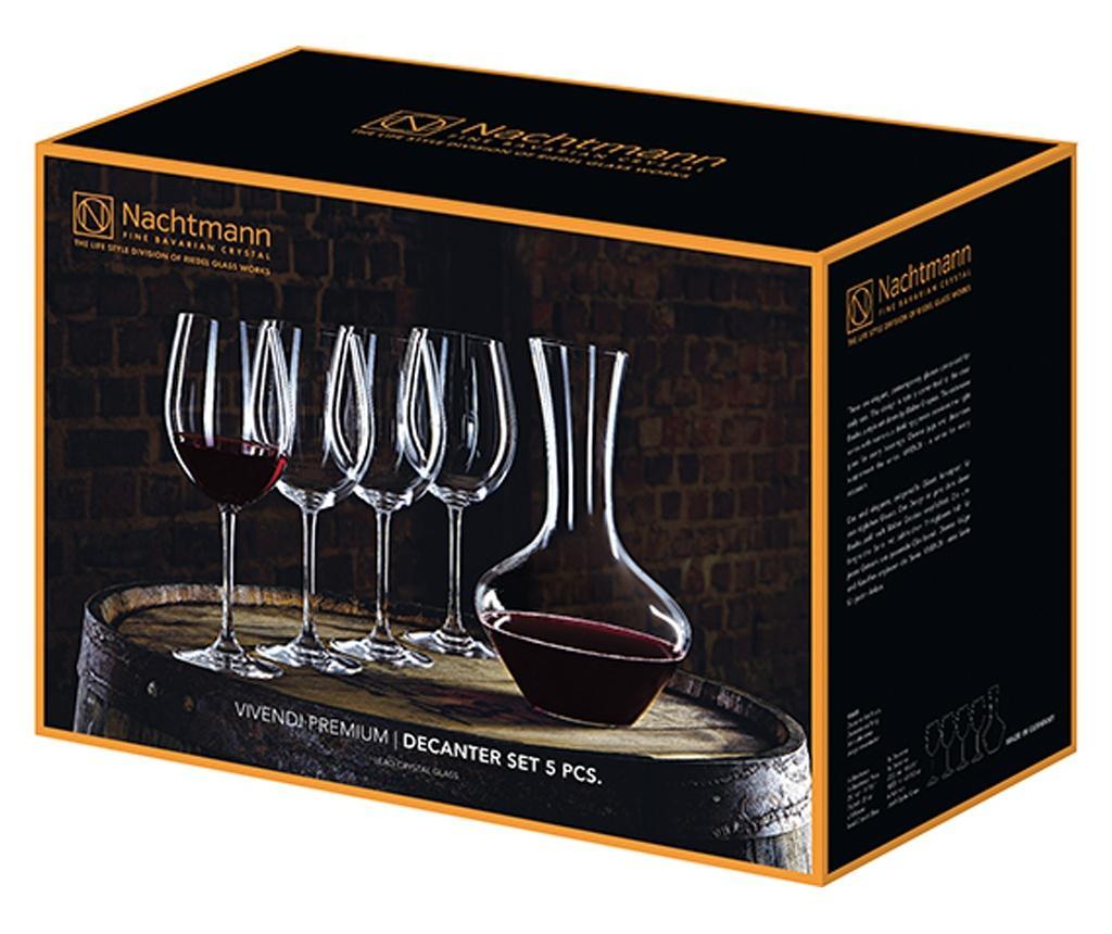 Set 4 pahare pentru vin si decantor Vivendi imagine