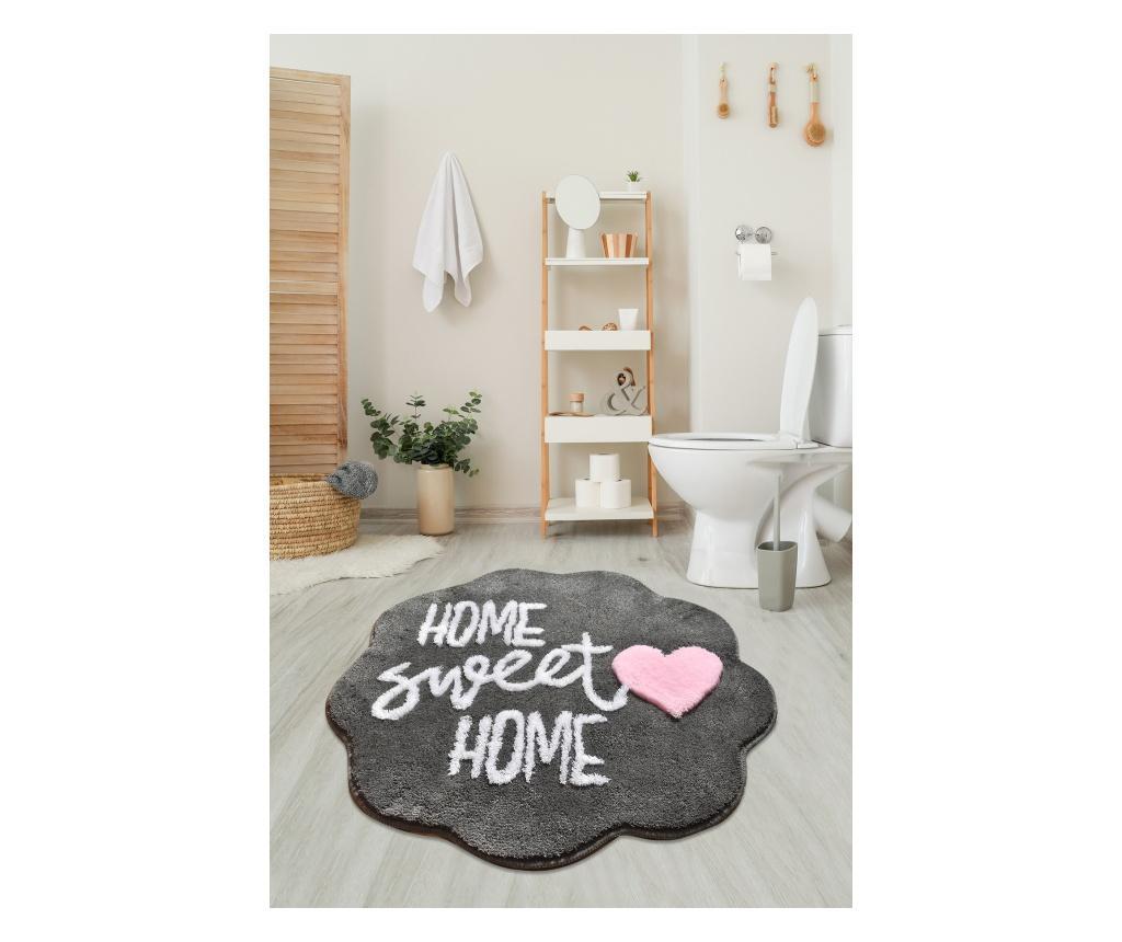 Covoras de baie Home Sweet Home 90 cm - Chilai Home, Multicolor poza