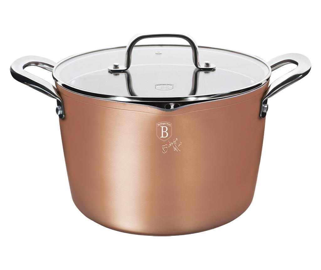 Oala pentru paste si orez cu capac Bronze Titan 6 L