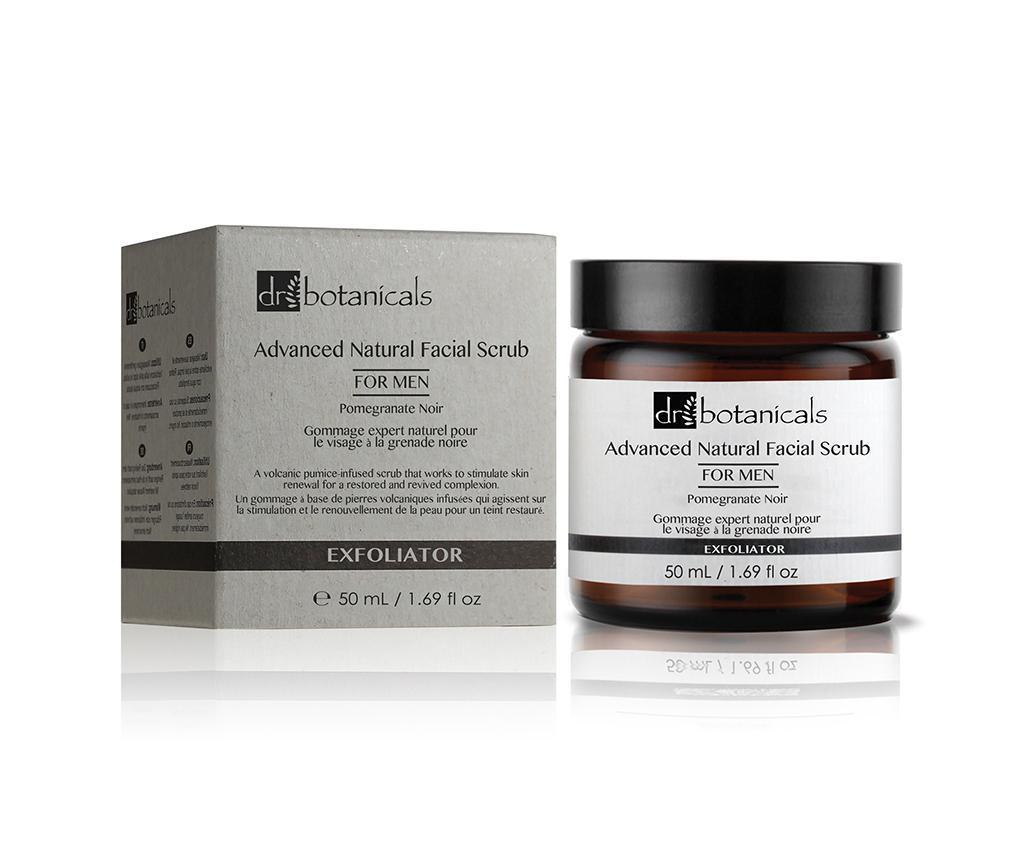 Exfoliant de fata pentru barbati Pomegranate Noir Advanced Natural Scrub 50 ml - Dr Botanicals imagine