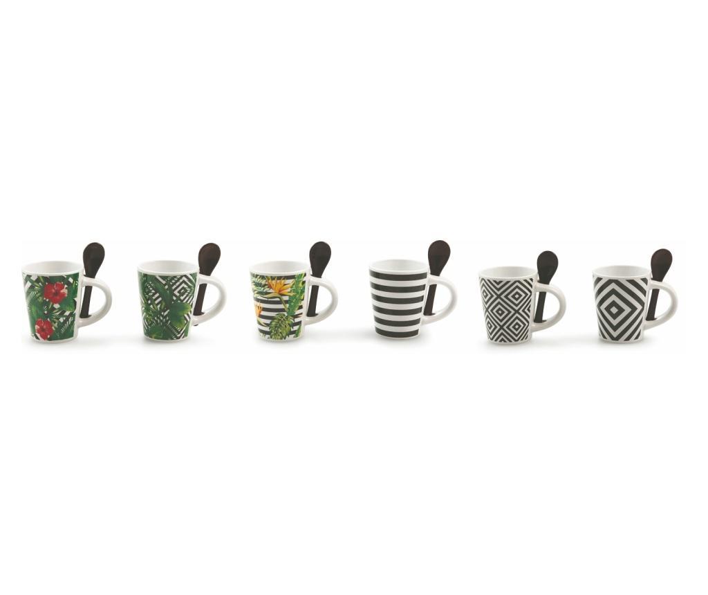 Set 6 cesti pentru espresso cu lingurite - Villa D'Este imagine