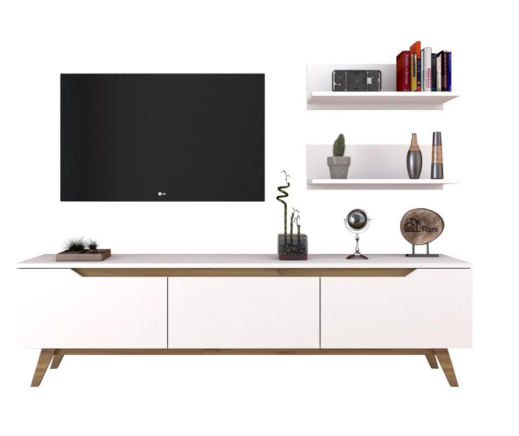 Set comoda TV si 2 polite - Wren, Maro vivre.ro