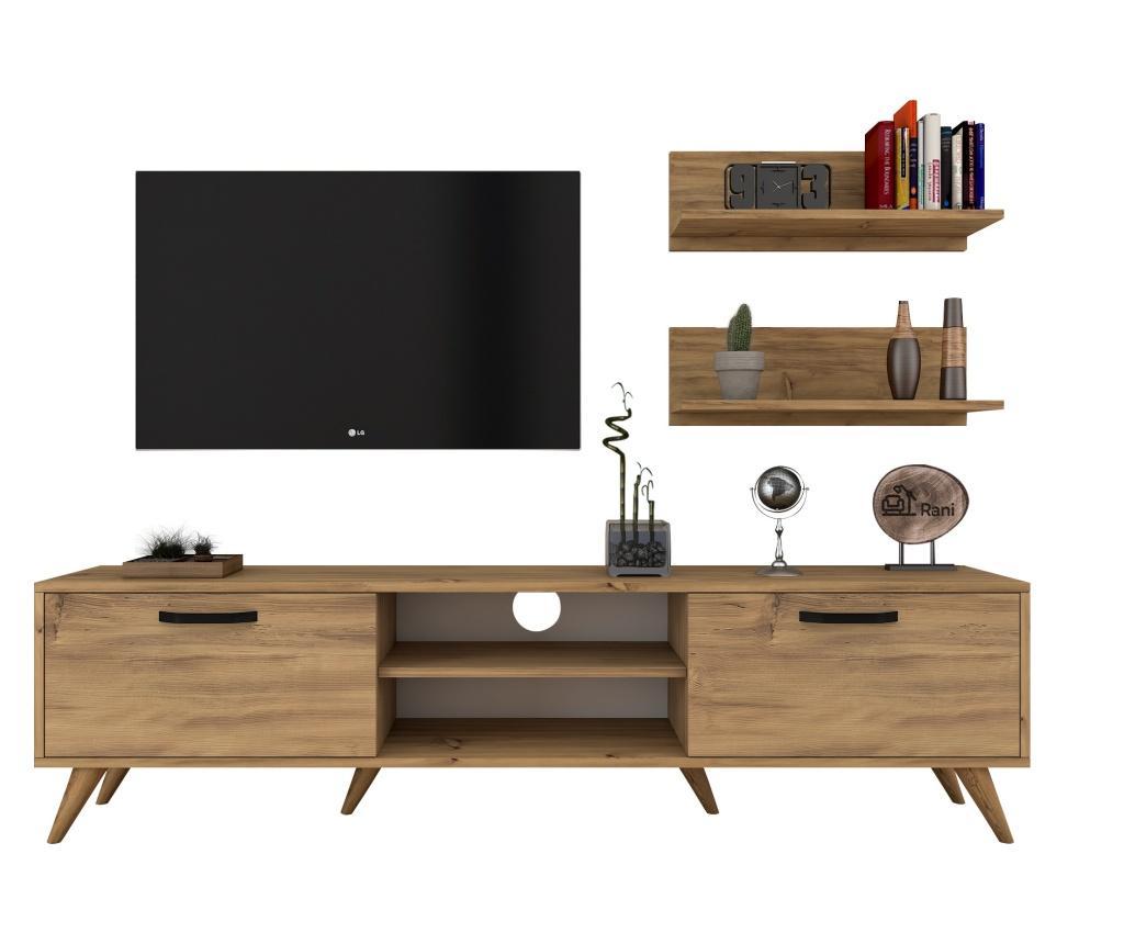 Set comoda TV si 2 polite