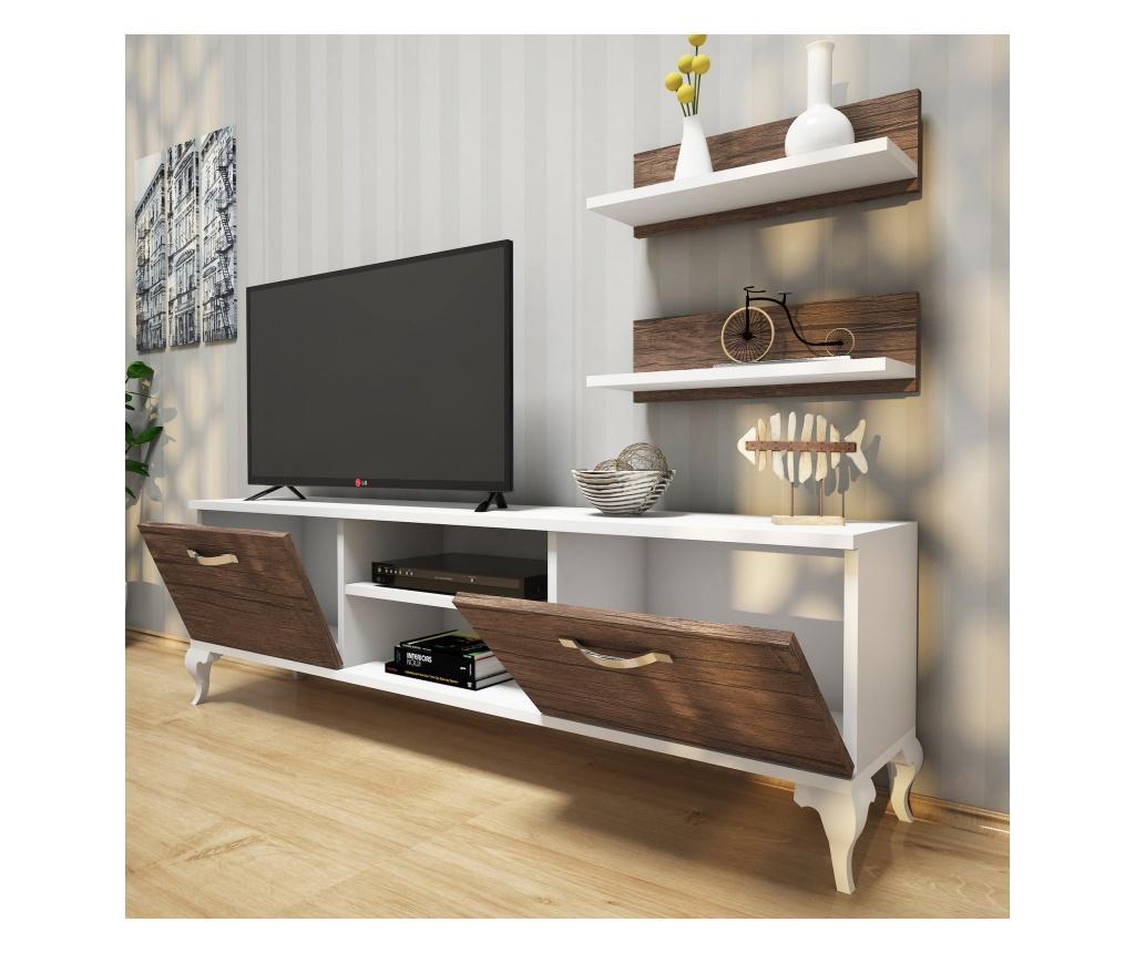 Set comoda TV si 2 polite - Wren, Maro imagine