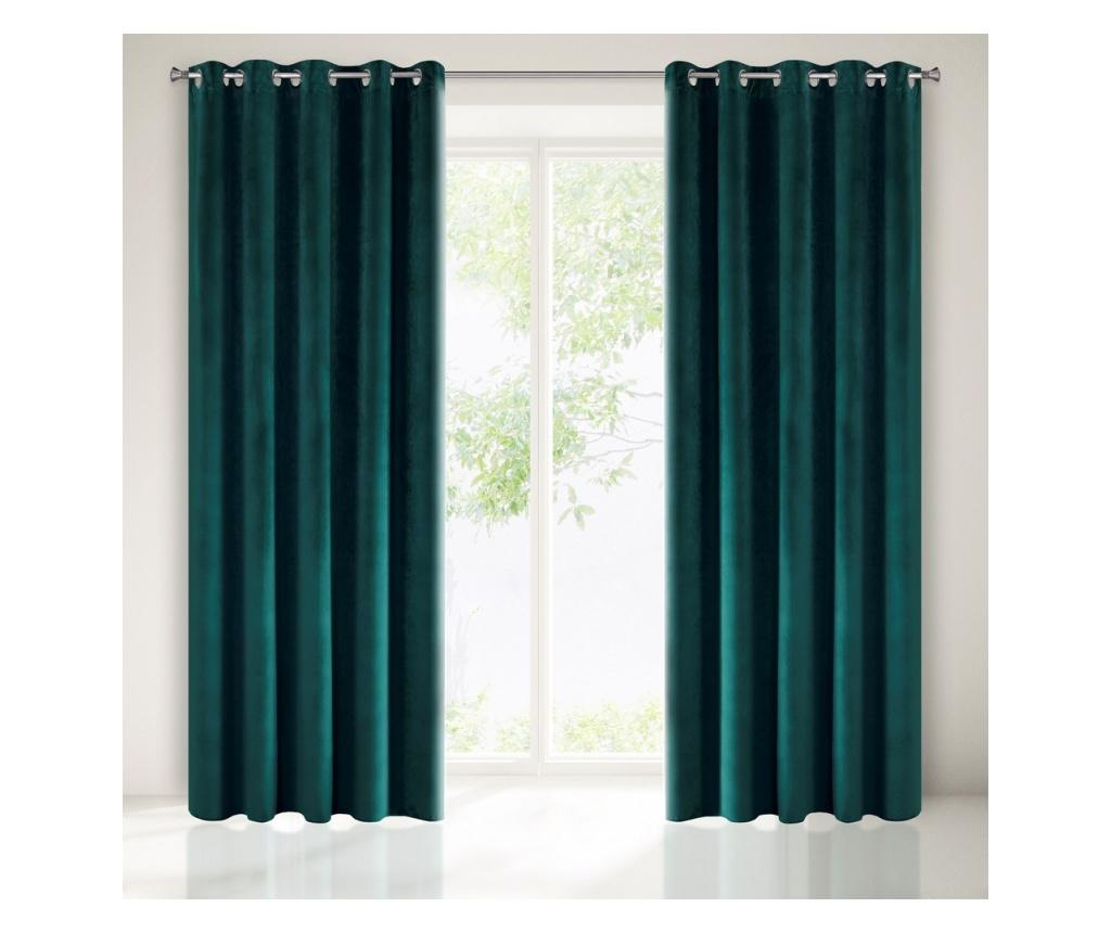 Draperie Ria Green Rings 140x250 cm imagine