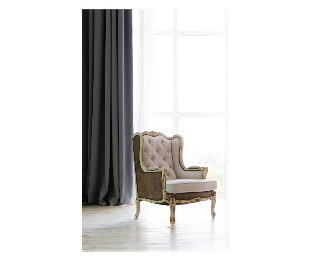 Draperie Pierre Grey 140x270 cm - Chic Home, Gri & Argintiu imagine