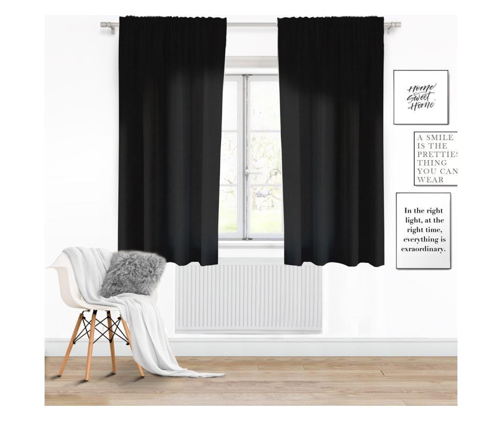 Draperie Viva Tape Black 140x175 cm imagine