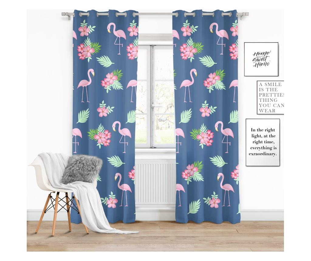 Draperie Flamingi 140x250 cm - Chic Home, Multicolor imagine vivre.ro