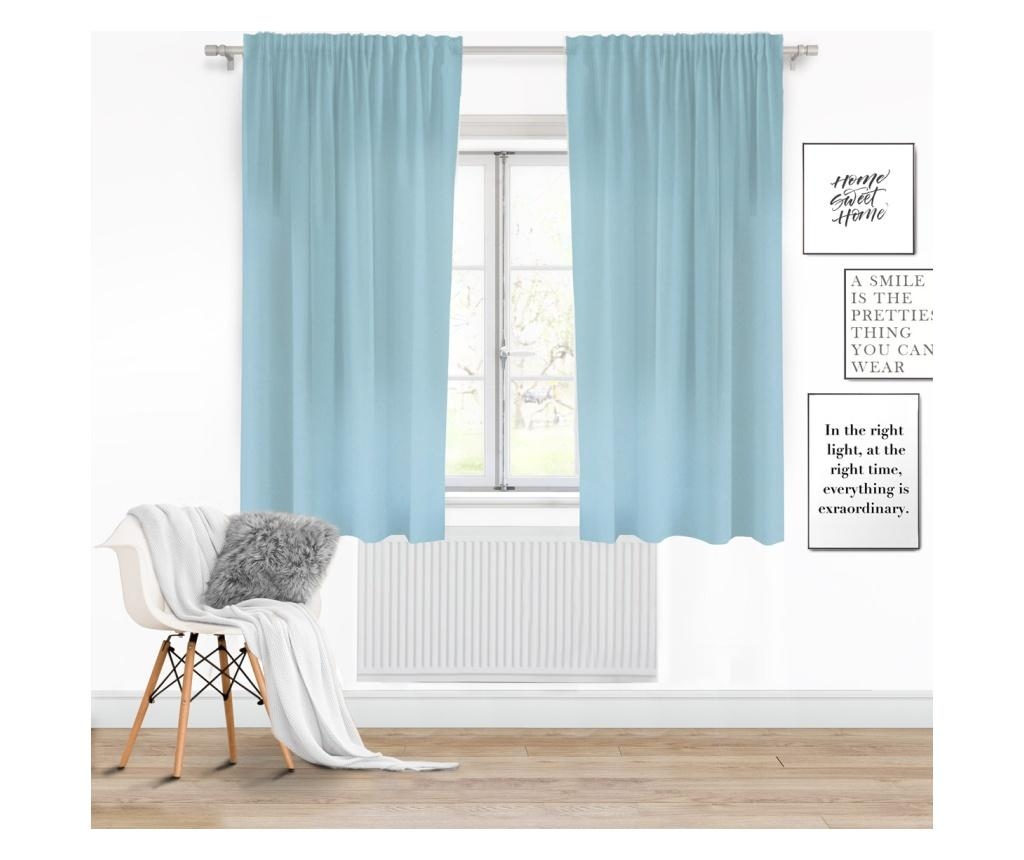Draperie Viva Tape Light Blue 140x175 cm imagine