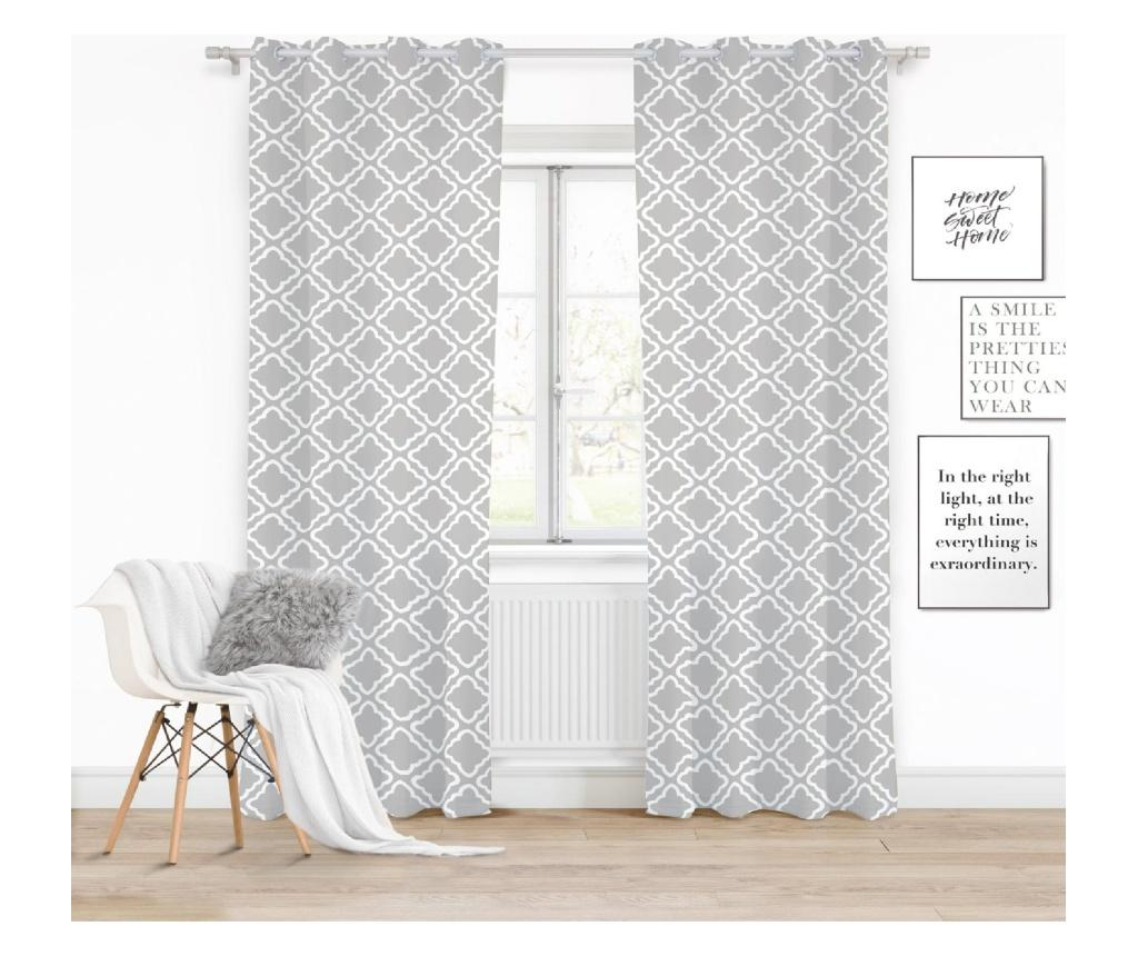 Draperie Clover Grey 140x250 cm imagine
