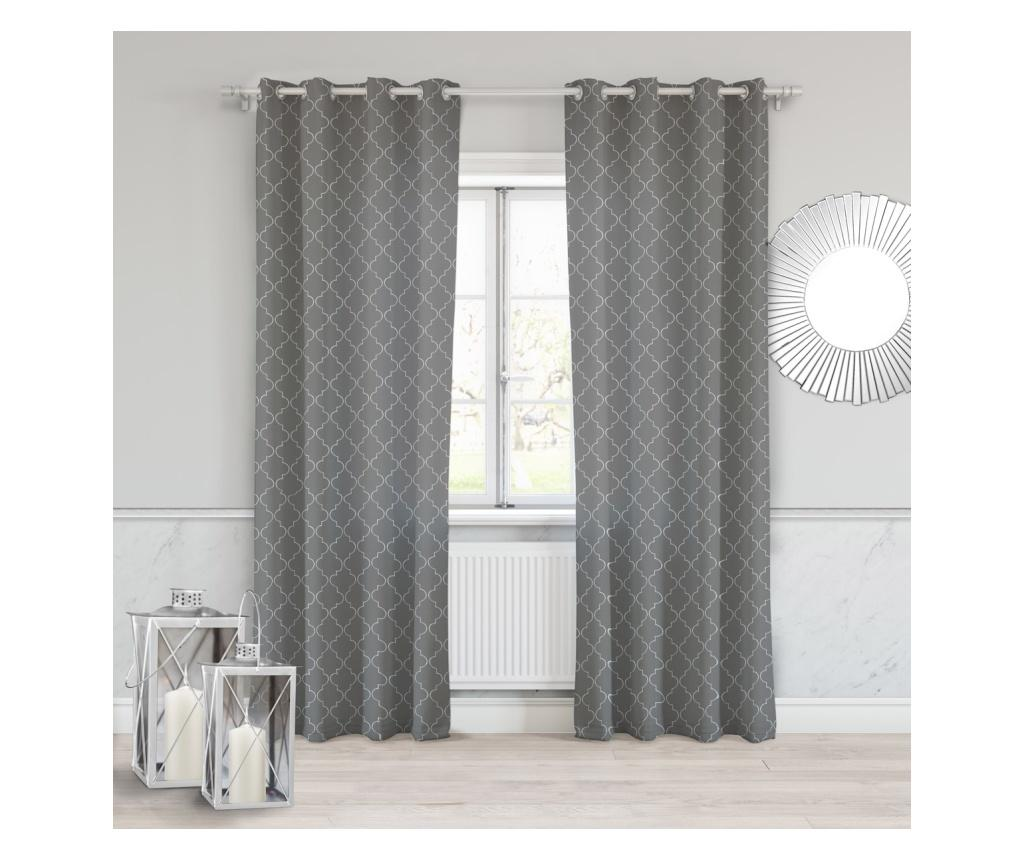 Draperie Maroko Dark Grey 140x250 cm imagine