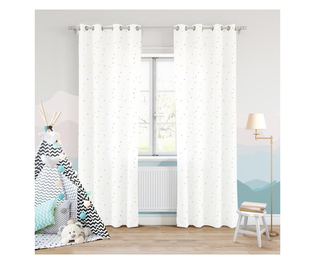 Draperie Dots White 140x250 cm imagine