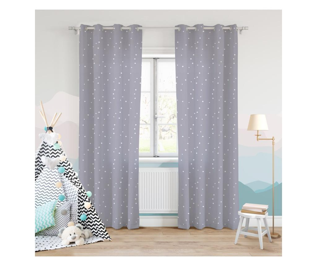 Draperie Dots Grey 140x250 cm imagine