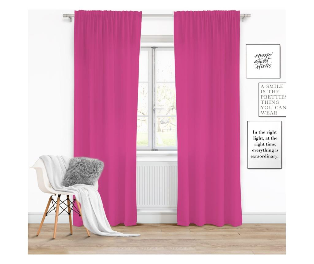 Draperie Viva Tape Dark Pink 140x250 cm imagine