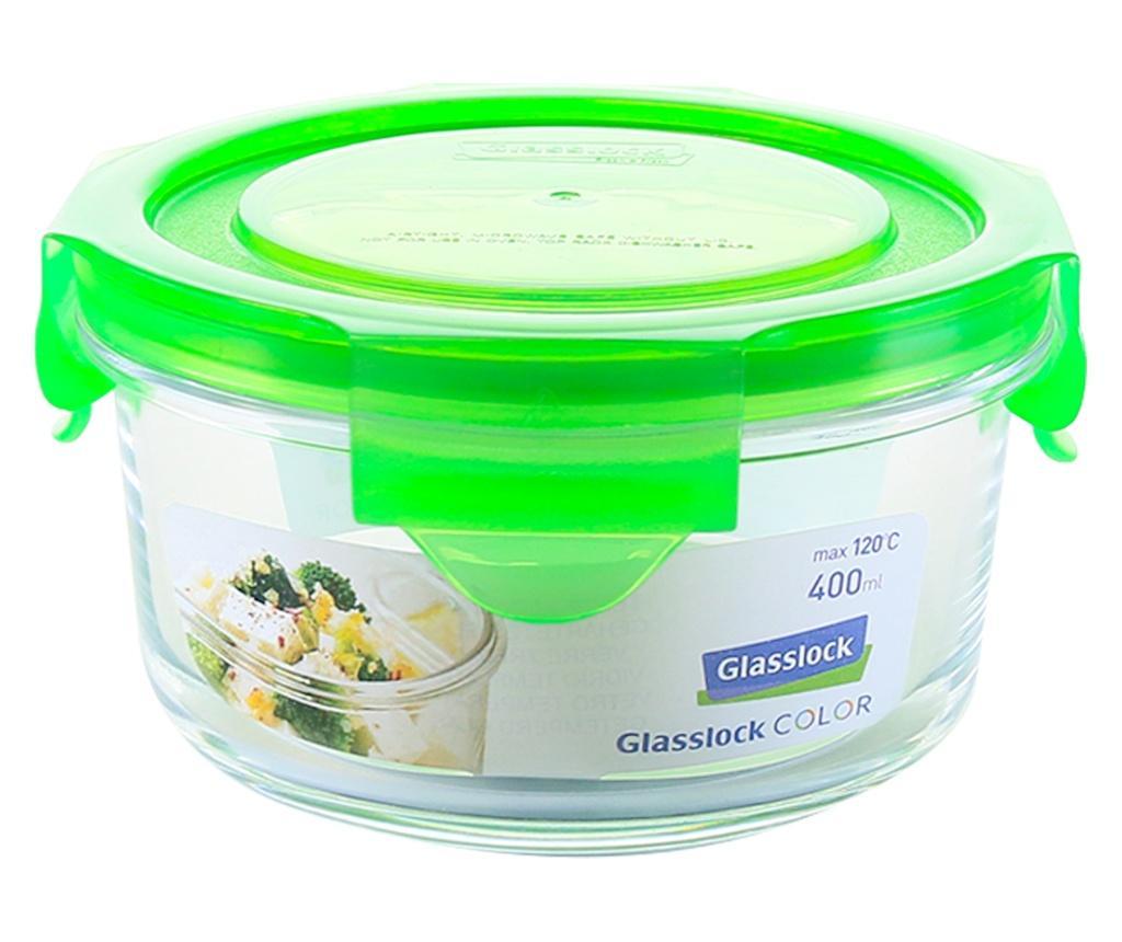 Bol cu capac ermetic Classic Round Green 380 ml