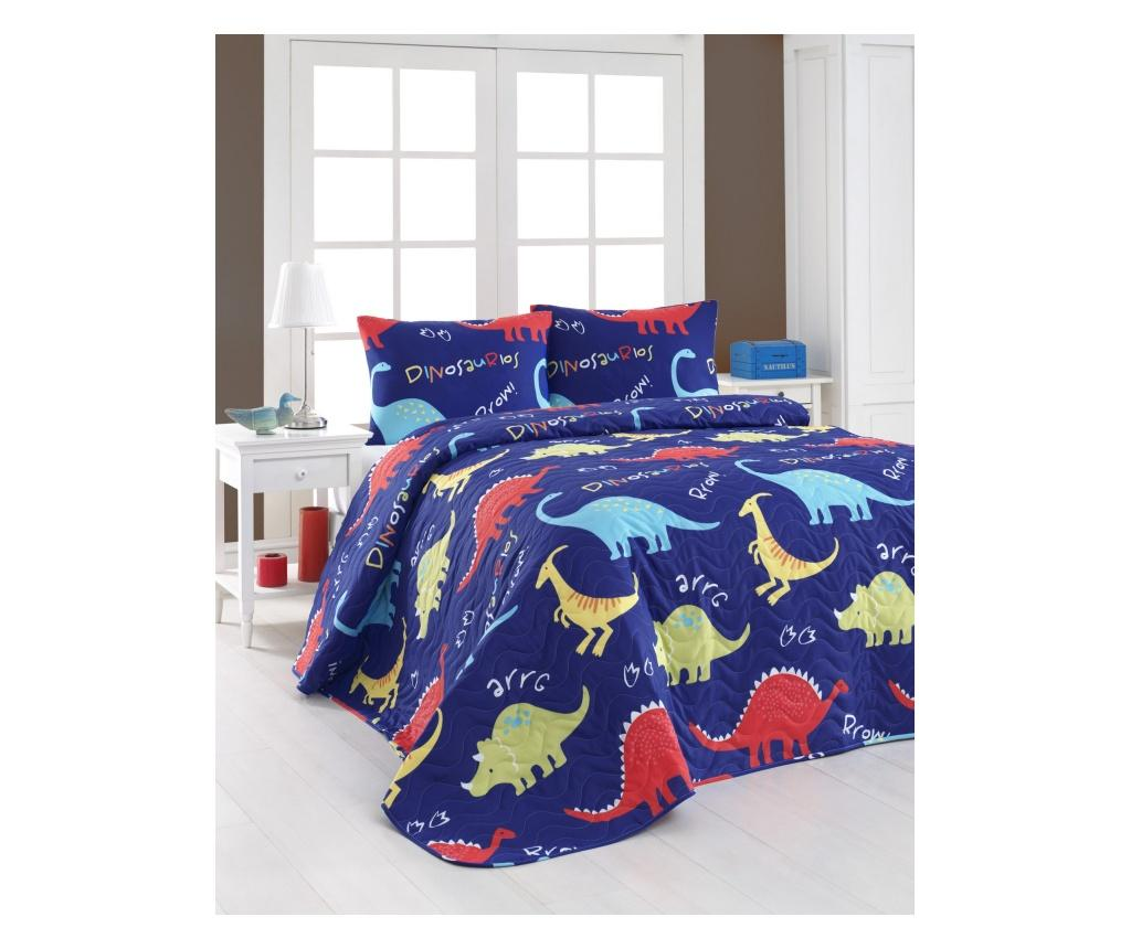 Set cuvertura matlasata Double Dinazorus - Eponj Home, Multicolor de la Eponj Home