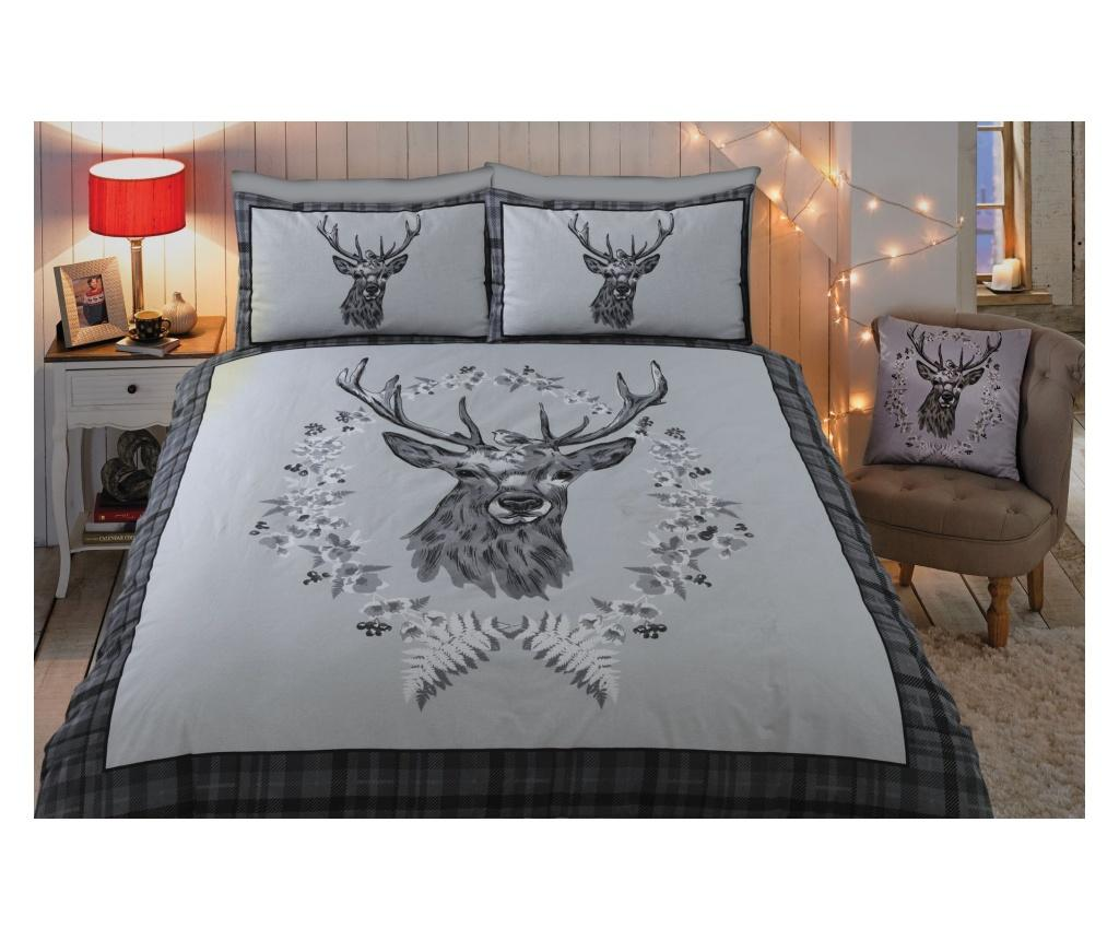 Set de pat King Angus Stag BC Grey - Rapport Home poza