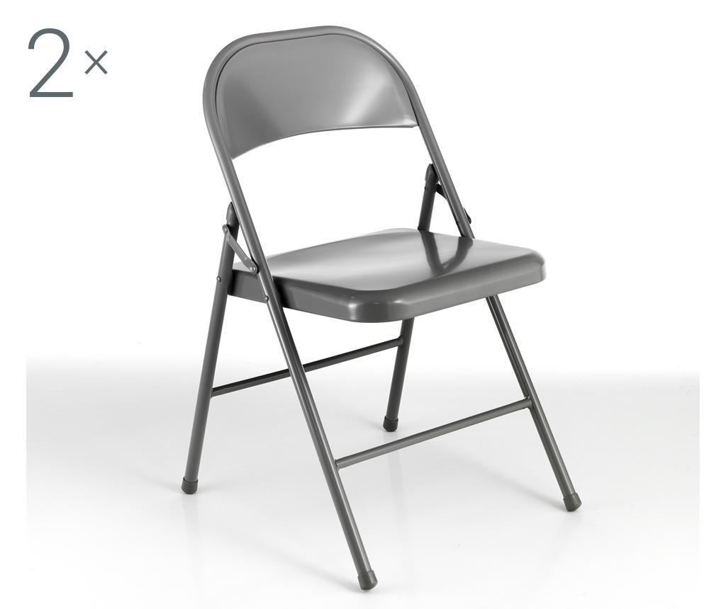 Set 2 scaune pliante Sekka - Tomasucci, Gri & Argintiu imagine