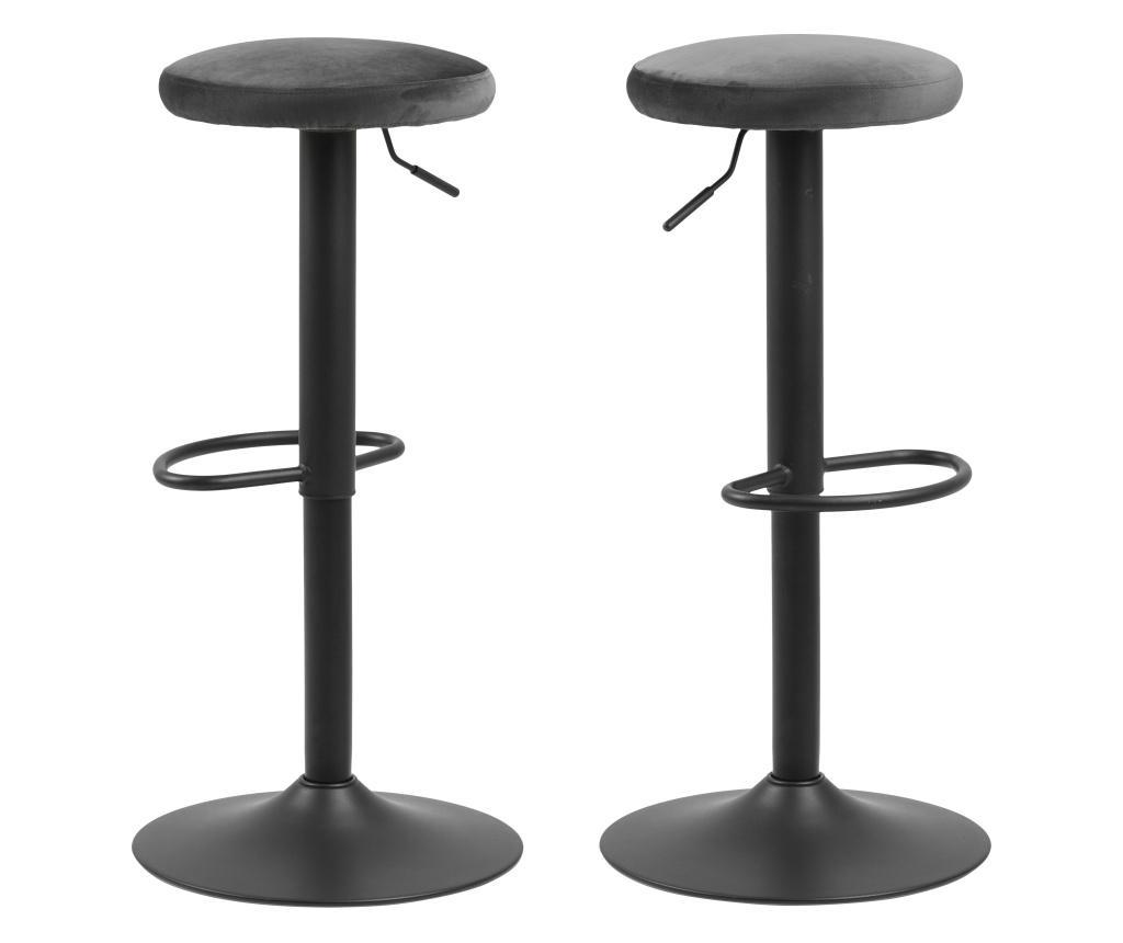 Set 2 scaune de bar Finch Grey - actona, Gri & Argintiu vivre.ro