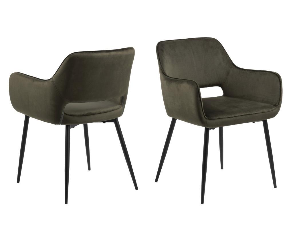 Set 2 scaune dining Ranja Green - actona, Verde imagine