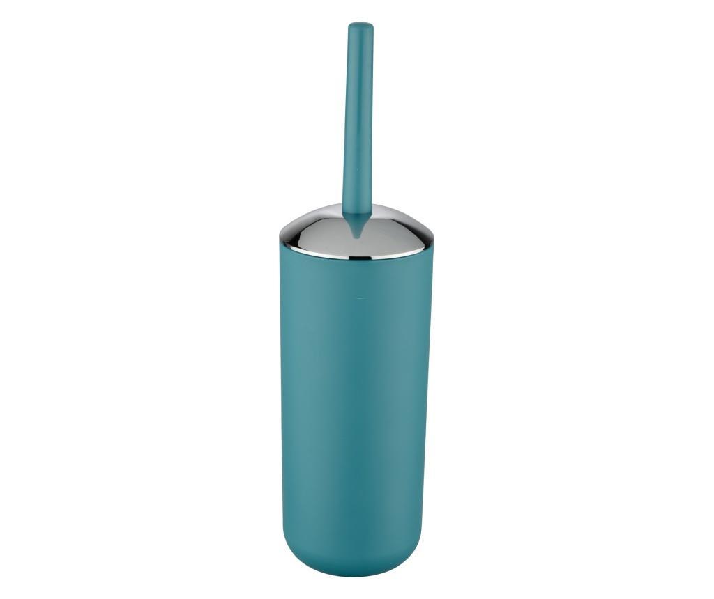 Perie de toaleta cu suport Brasil - Wenko, Albastru imagine