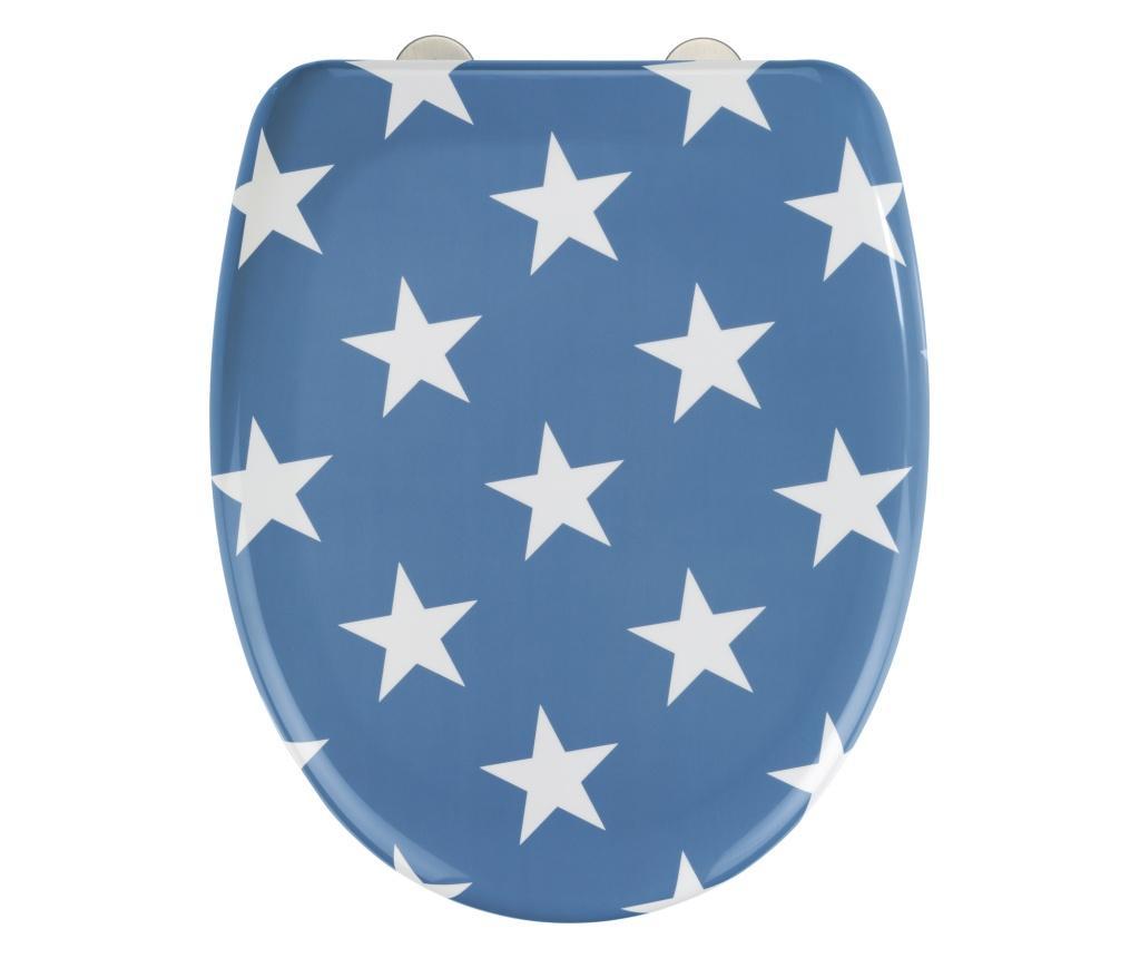Capac pentru toaleta Stella - Wenko, Albastru,Gri & Argintiu imagine