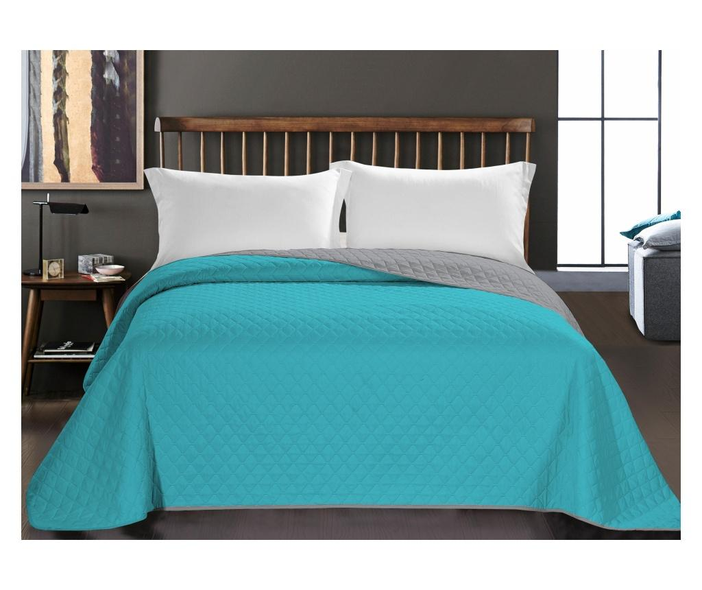 Cuvertura Axel Turquoise 220x240 cm - DecoKing, Albastru imagine vivre.ro