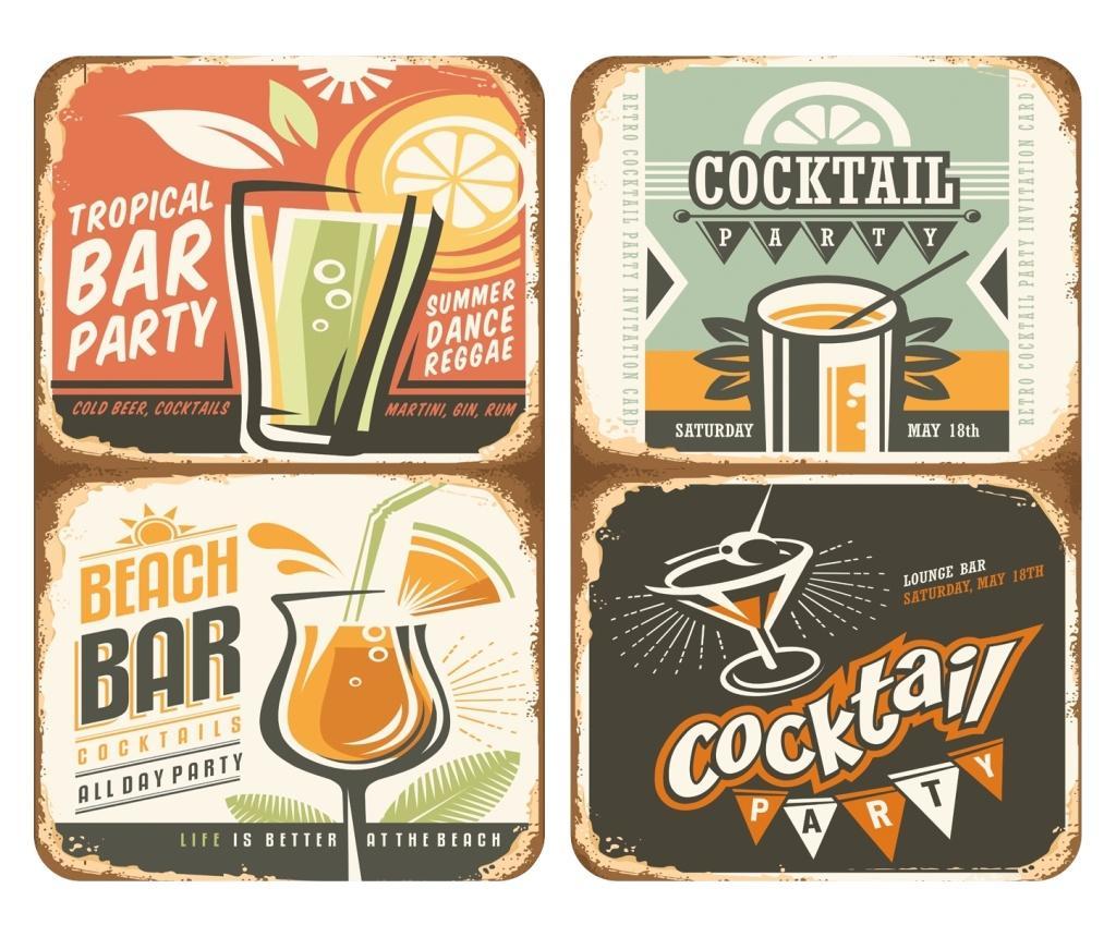 Set 2 planse protectoare pentru plita Universal Cocktail