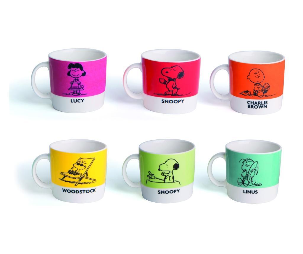 Set 6 cesti pentru cafea Peanuts imagine