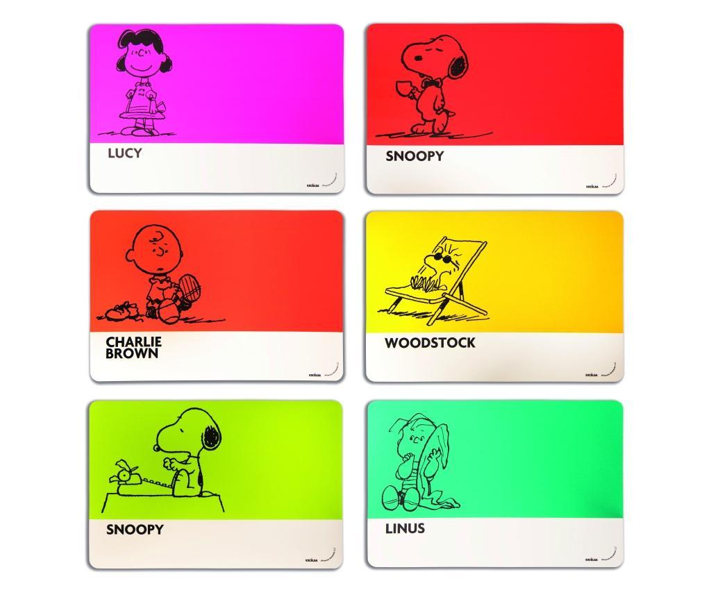Set 6 suporturi pentru farfurii Peanuts 28.5x43 cm - Excelsa, Multicolor poza