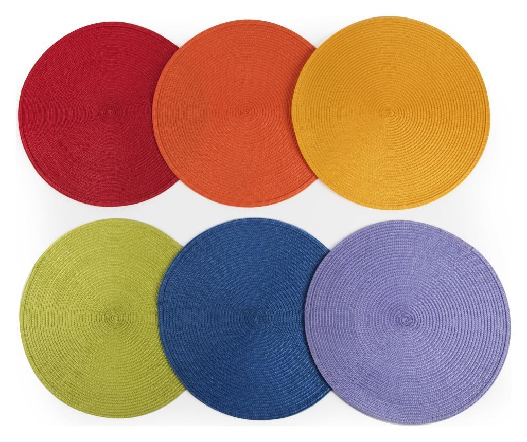 Set 6 suporturi pentru farfurii Round 36 cm - Excelsa, Multicolor vivre.ro