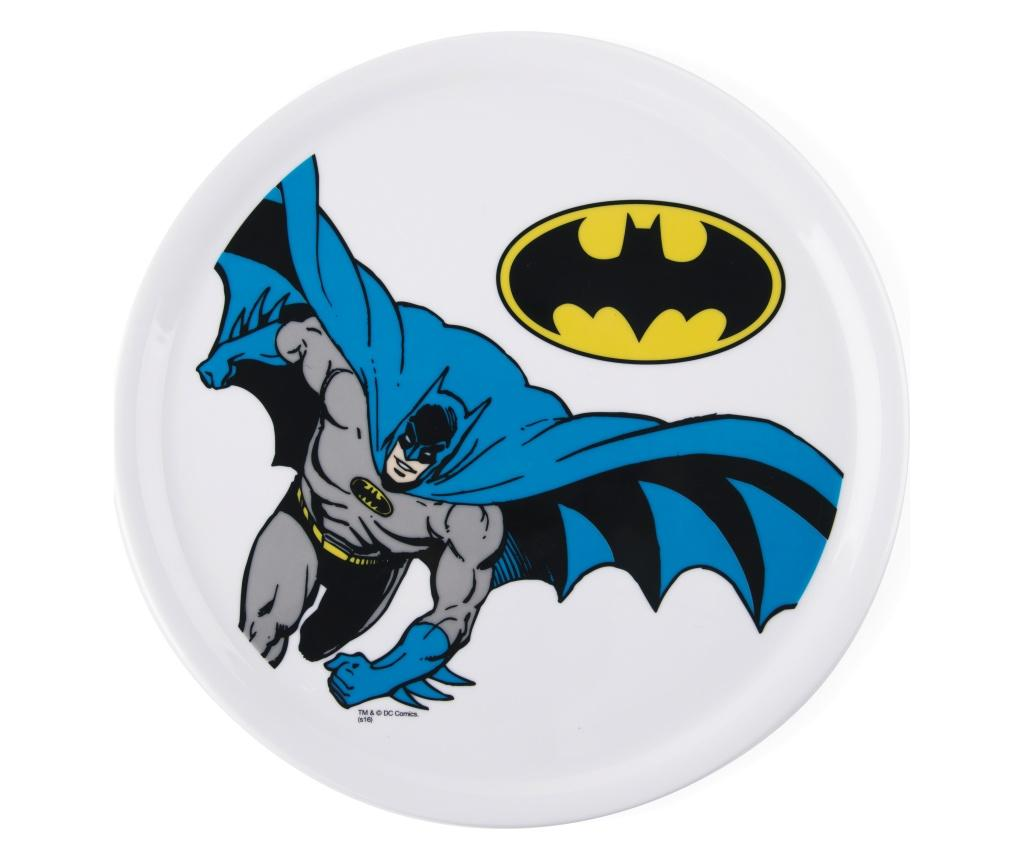 Platou pentru pizza Batman - Excelsa, Alb imagine