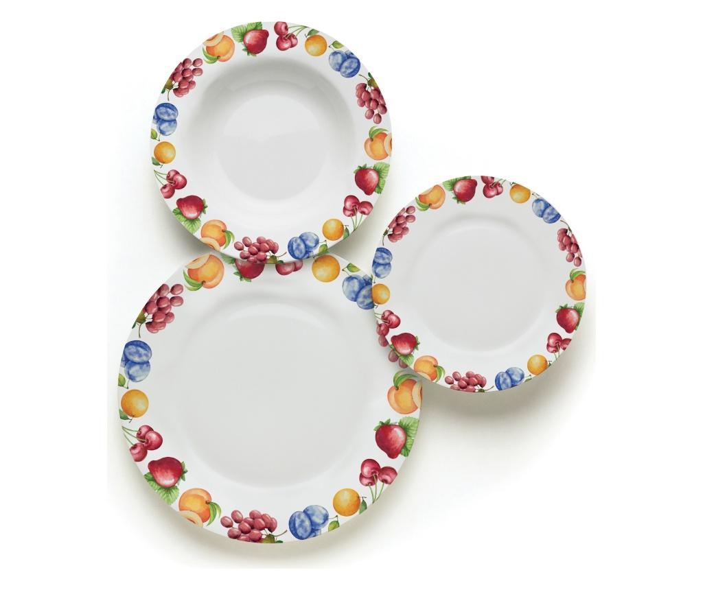 Set de masa 18 piese Sweet fruit - Excelsa, Multicolor imagine