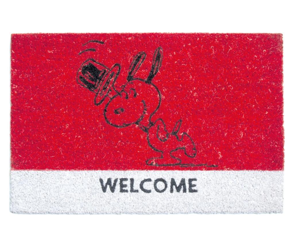 Covoras de intrare Peanuts 40x60 cm - Excelsa, Rosu imagine
