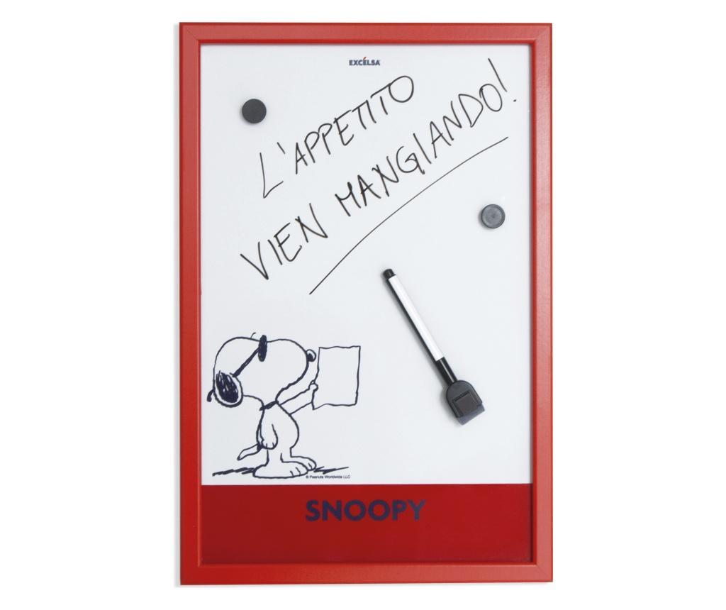 Panou memo de bucatarie Peanuts 30x45 cm - Excelsa, Rosu poza