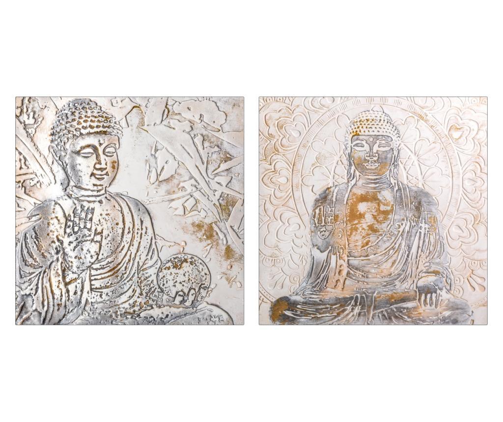 Set 2 tablouri Budha 60x60 cm